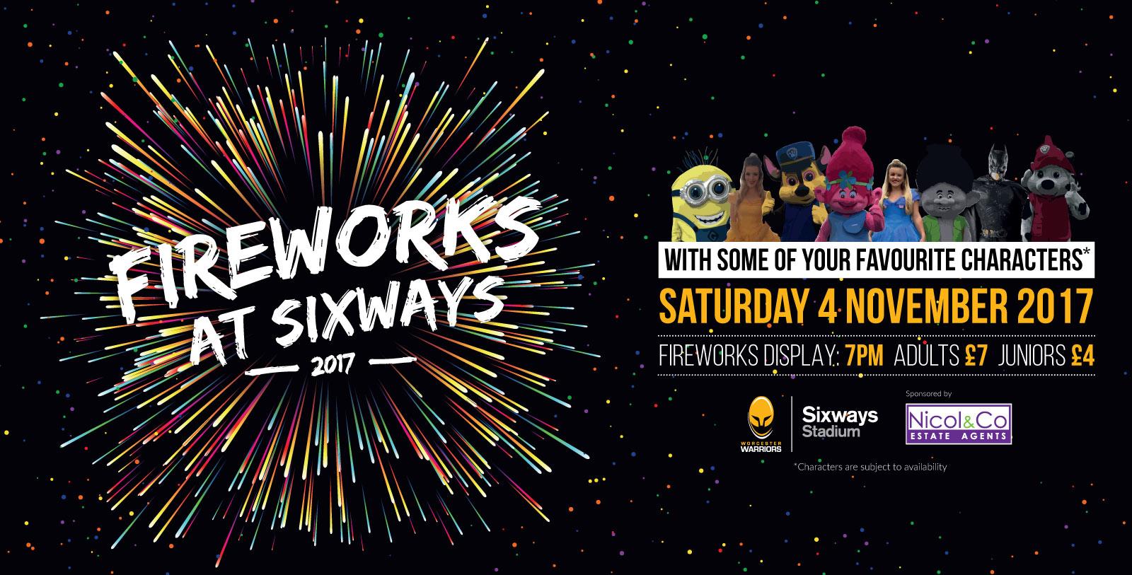Fireworks at Sixways 2017