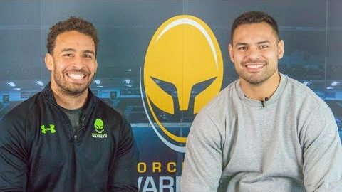 Ben Te'o is grilled by Marco Mama