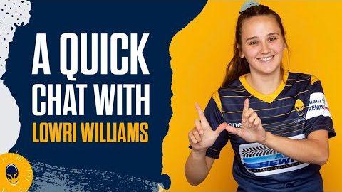 A quick chat | Lowri Williams