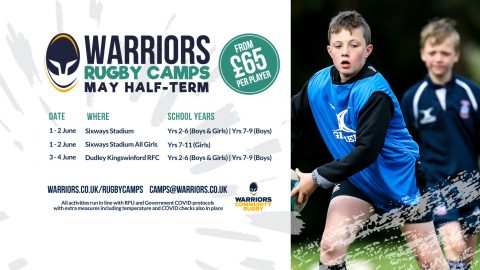 Warriors half-term rugby camps are back