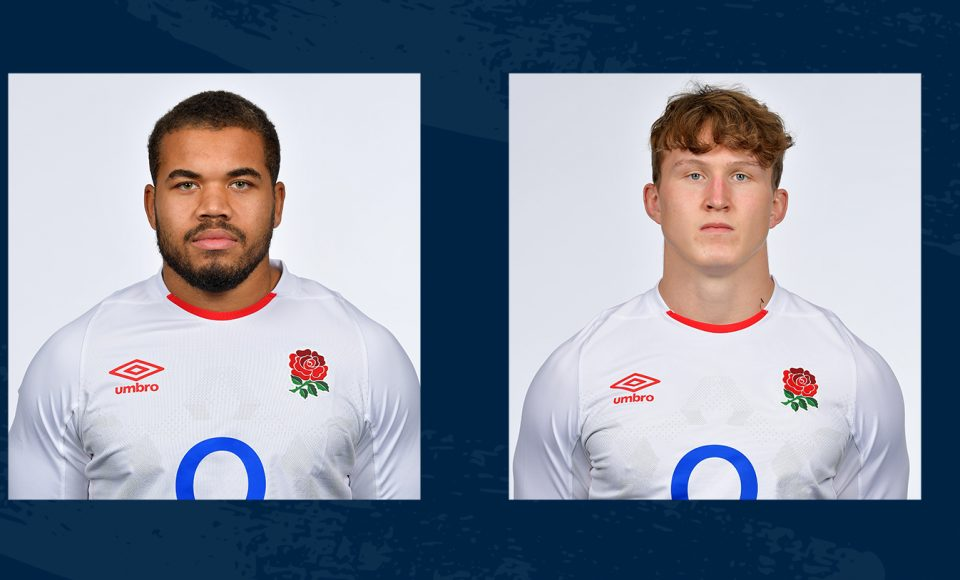 Ted Hill and Ollie Lawrence in England training squad