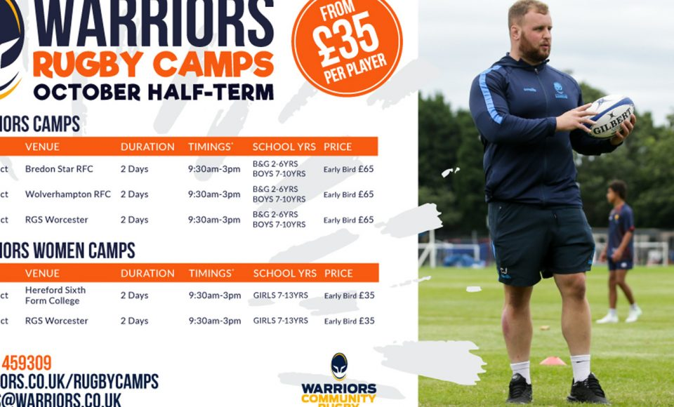 Warriors Rugby Camps return for October Half-term