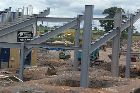 A close up on the steel works